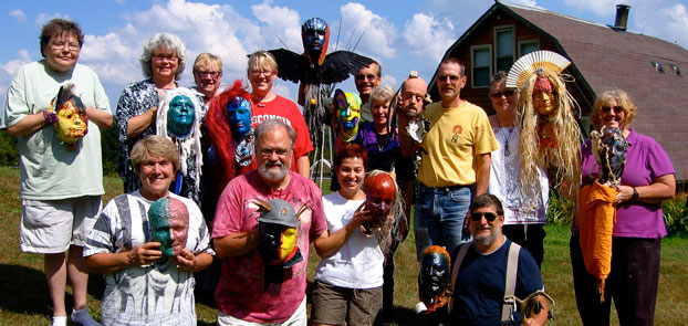 group of students with completed masks in Wisconsin
